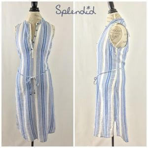 NWT Splendid Picnic Stripe Midi Dress